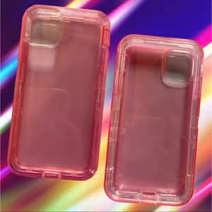 iPhone 11 Pro Max Pink Transparent Protective Case